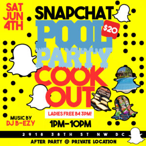 Snapchat Pool Party
